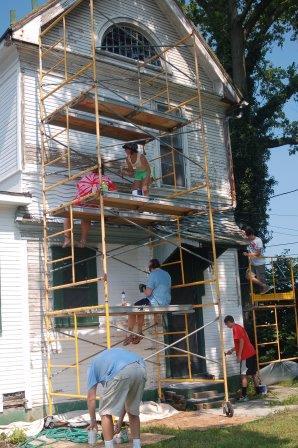 Scaffolding Exterior Paint